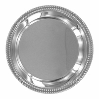 Silver Tray with Gold Rim