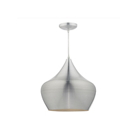 Large Single Aluminium Pendant with Braided Cable. E27 Lamp Required | LV1802.0019