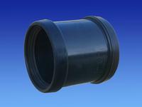 Soil Coupler 110mm 2 socket Black