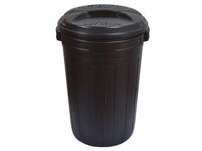 Waste Bin Black 80L C/W Lid