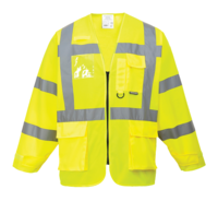 Hi Vis Long Sleeve Executive Vest EN471 Yellow