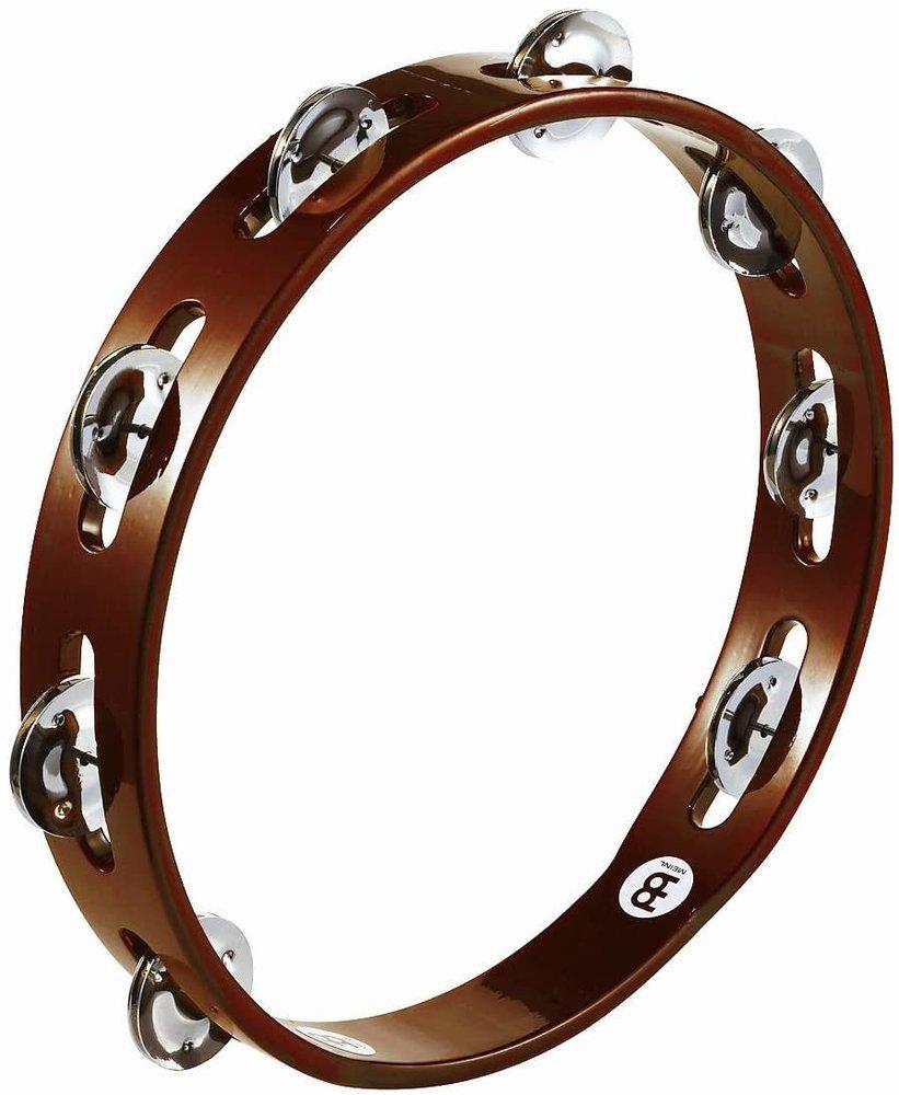 Meinl Tambourine 1 row, steel jingles, african brown