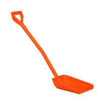 Ergonomic one piece shovels