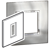 Arteor (British Standard) 1 Gang 1 Module Square Stainless Steel | LV0501.0198