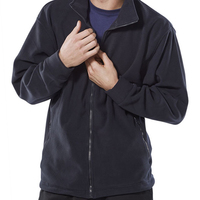 Beeswift Navy Fleeced Zip Jacket