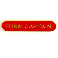 Form Captain - Bar Shaped School Badge (Red)