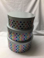 HAT BOX SILVER COL HOT FOIL SET OF 3 BOXES **AVAILABLE OCTOBER**