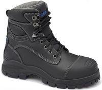 Blundstone 991 Nitrile Sole 300°C Lace Up Safety Boot With Scuff Cap Black