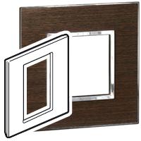 Arteor (British Standard) 3 Modules 1 Gang Square Wenge | LV0501.2686