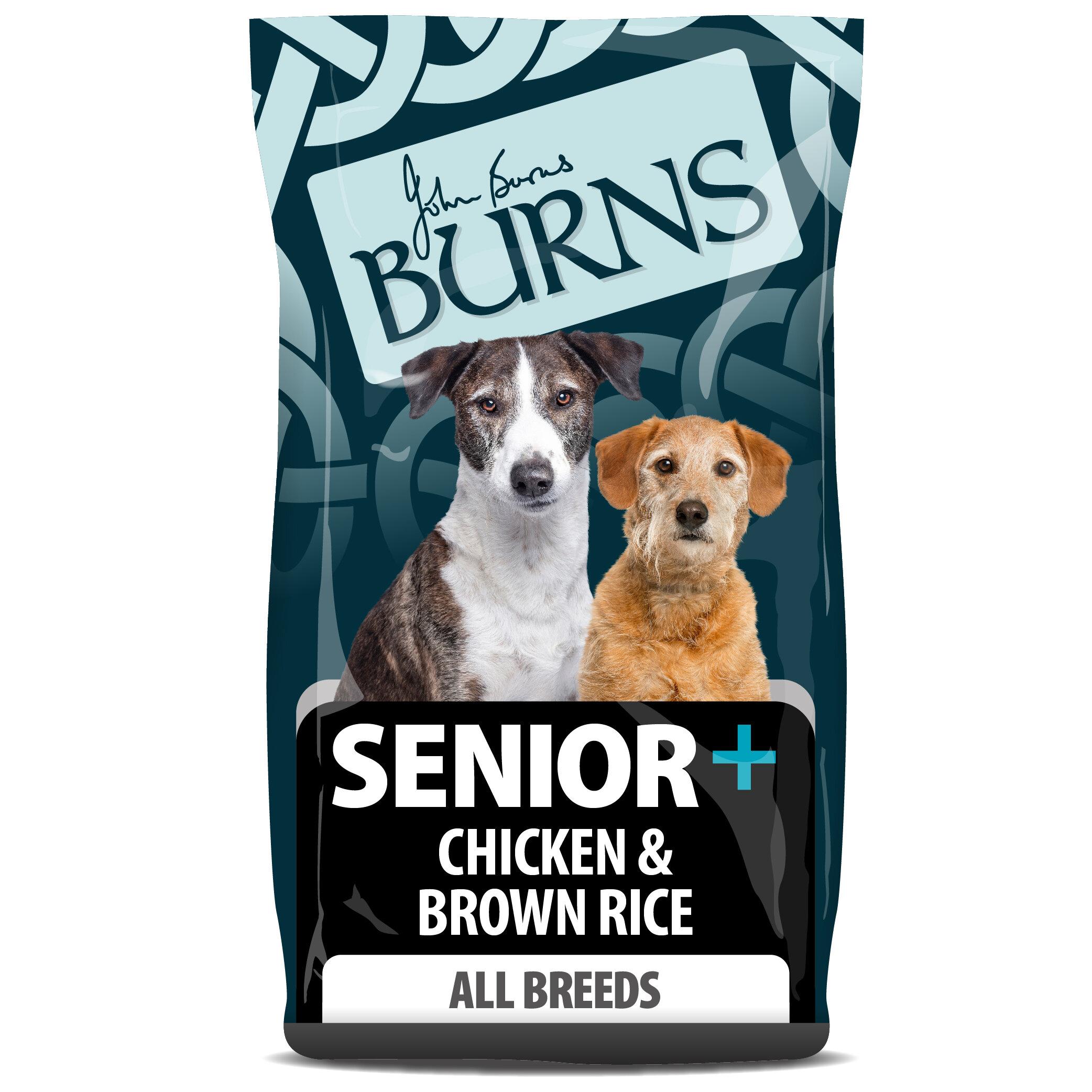 Burns Senior+ Dog Medium/Large Breed Chicken & Brown Rice 12kg