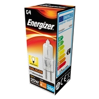 ENERGIZER ECO HALOGEN 14W (20W) G4 CLEAR CAPSULE LAMP BOXED