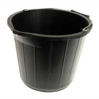 2GALLON RIBBED BLACK BUCKET