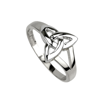 STERLING SILVER PLAIN TRINITY KNOT RING