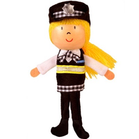 Policewoman Finger Puppet