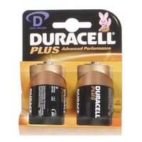Duracell Plus MN1300 D Battery 2pk