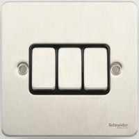 Switch Ultimate 3 Gang 2 way Stainless Steel