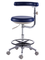TRONWIND - MICROFIBRE LEATHER GREY NURSE'S STOOL