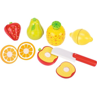 Wooden set of toy fruit