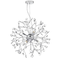Vivien 6 Light Sputnik Pendant, Polished Chrome/ Clear | LV1802.0110