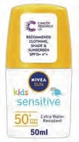 Nivea Sun Protect And Sensitive Kids Roll-On Spf50 50ml