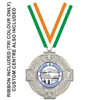 50mm 4 Prov Medal with Tri Ribbon (Silver)