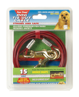 4-Paws Tie Out Cable 15 feet / 4.5 metre x 1