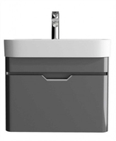 SONAS SOTT' AQUA 48CM WALL HUNG VANITY UNIT DARK GREY W480MM X D420MM