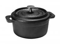 Cast Iron Round Mini Casserole 10cm Black