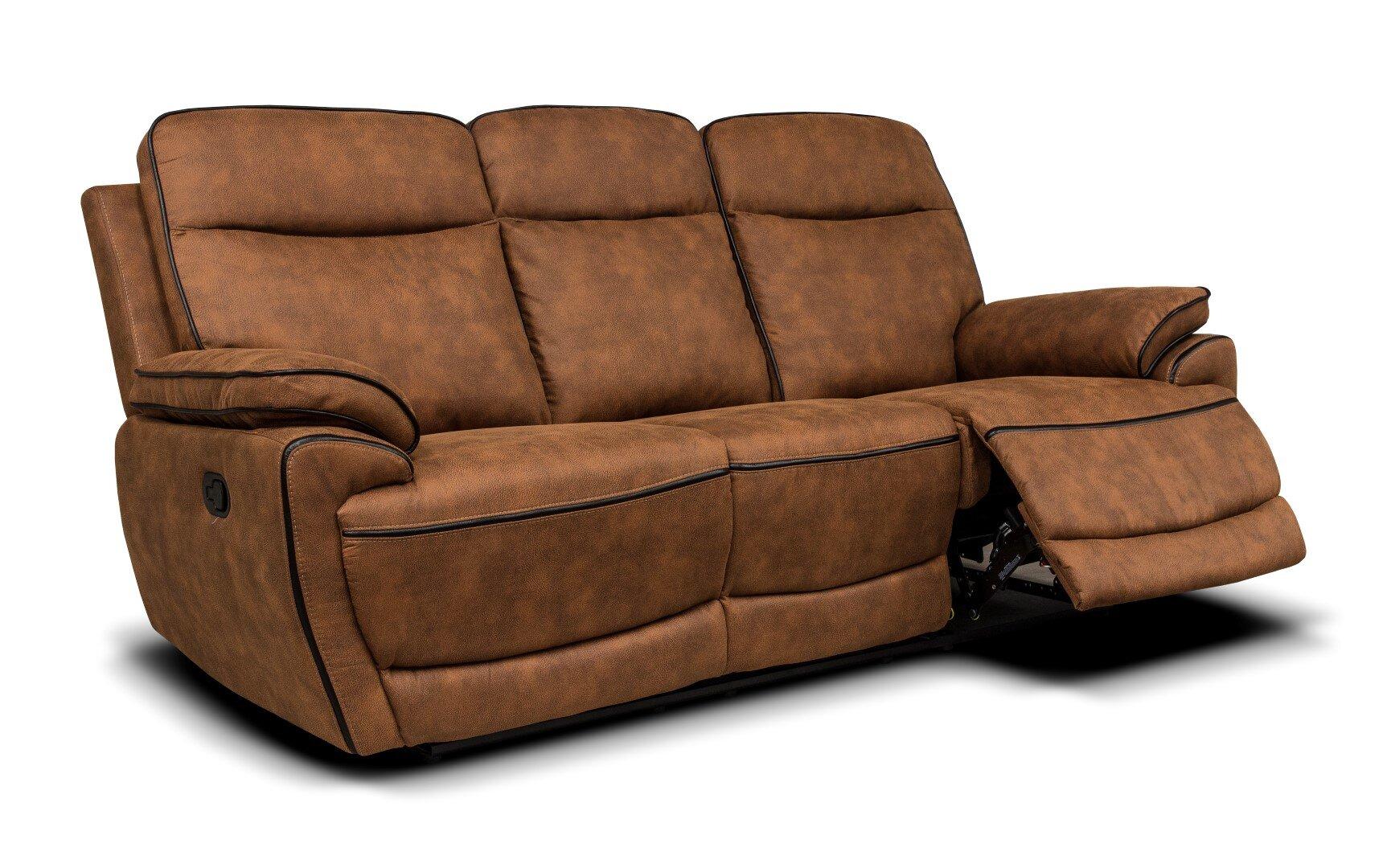 Lotus Fabric Sofa - Brown