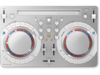 Pioneer DDJ-WeGO4-W (White) | Compact DJ software controller for IOS and Android (White)