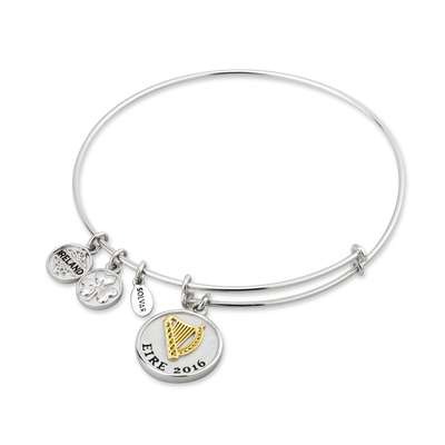 SILVER & GP HARP EXPANDING BANGLE(BOXED)