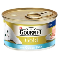 Gourmet Gold Cat Can Ocean Fish Pate 85g x 12