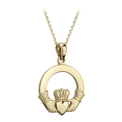 14K CLADDAGH MEDIUM HEAVY