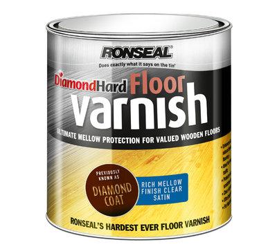 Ronseal Diamond Hard Floor Mellow Varnish Satin 2 5 Ltr Burke