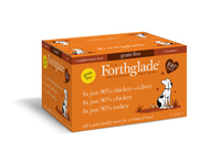 Forthglade Adult Dog Tray - Just Poultry Multicase 395g x 12