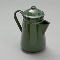 Falcon Enamel Coffee Pot 13cm/1.3L in Green
