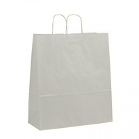 Twist Handle Carrier Bag White 400mm x 160mm x 450mm