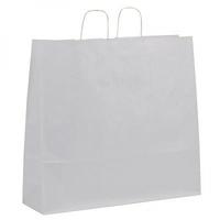 Twist Handle Carrier Bag White 540mm x 150mm x 490mm