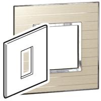 Arteor (British Standard) Plate 1 Module 1 Gang Square Casual| LV0501.0797