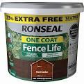RONSEAL FENCELIFE RED CEDAR 9LTR + 33% FREE