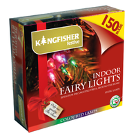KINGFISHER 150 MULTI COLOURED FAIRY CHRISTMAS LIGHTS