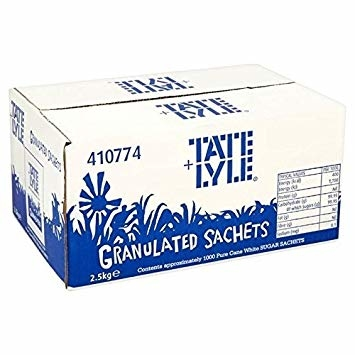White Sugar Sachets (Tate and Lyle) 1000x2.5gr