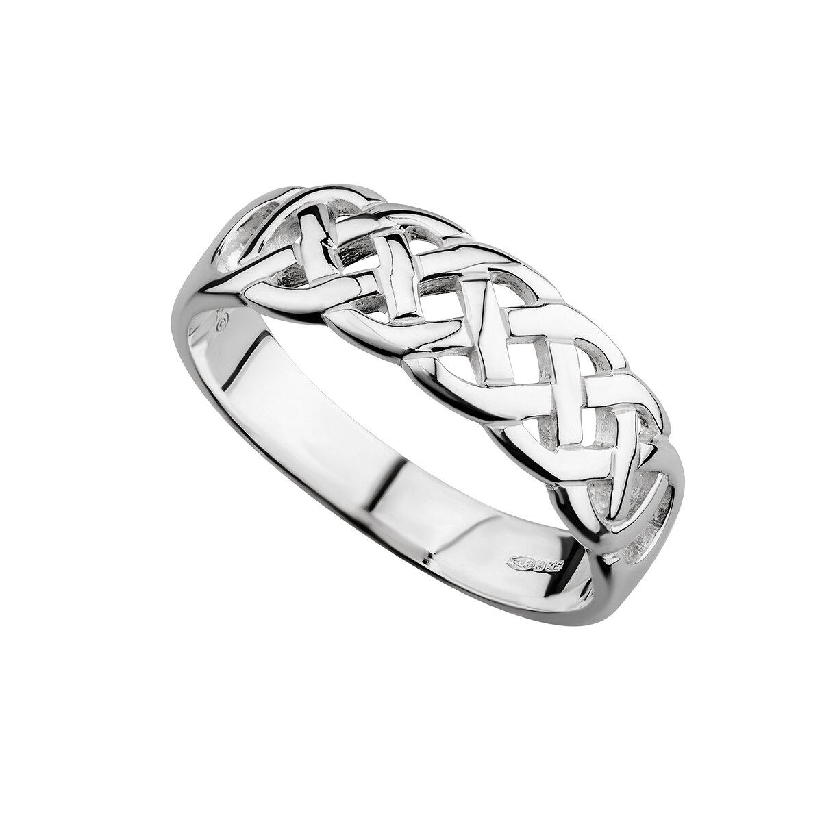 sterling silver celtic woven ring s2405 from Solvar