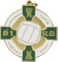 34mm Gaelic Football Medal -(Gold / Green)