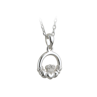 sterling silver kids claddagh pendant s44723 from Solvar