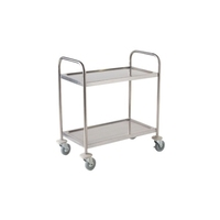 Trolley 2 Tier S/S Fully Welded 930mm x 530mm x 860mm