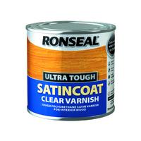 RONSEAL ULTRA TOUGH SATINCOAT CLEAR VARNISH 250 ML