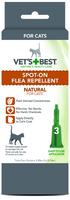 Vet's Best Natural Spot-On Flea Repellent for Cats 3 x 0.75ml vials x 1