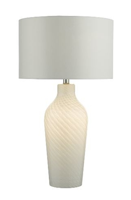 Cibana Table Lamp Dual Source, White with Shade | LV1802.0121