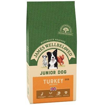 James Wellbeloved Turkey & Rice Junior Dog Food 2kg